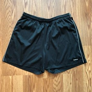 Reebok Black / White Athletic Shorts